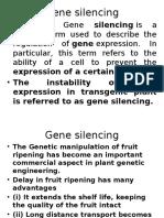 Gene Silenciing