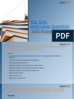 Top SAS Interview Question and Answer