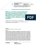 Efficacy of a Film-Forming Medical Device Containing Piroxicam and Sun Filters in the Treatment of Multiple Actinic Keratosis Lesions in a Subject with a History of Kaposi Sarcoma