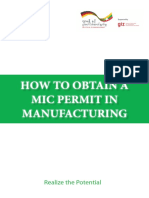 HOW TO OBTAIN A MANUFACTURING INVESTMENT PERMIT (MIC PERMIT) IN MYANMAR