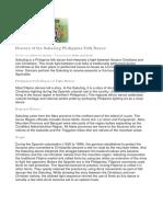 History of the Sakuting Philippine Folk Dance