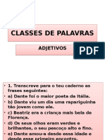 Classes de Palavras - Adjetivos