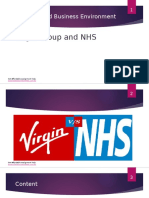 Business Environment Assignment Presentation– Virgin vs NHS