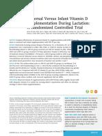 Maternal vs Infant Vitamin D Suplementation