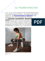 Personal Training mit Erika for All München