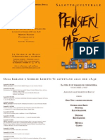 Pensieri e Parole programma 2010