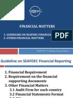 27 FR Inception Workshop Financial Matters