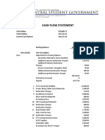 Cash Flow Statement for June