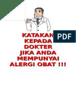 Poster Katakan Kepada Dokter