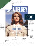 Lana Del Rey Album Advert