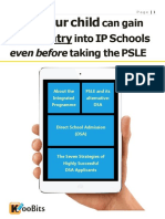 Gain Direct Entry Into IP Schools Even Before Taking the PSLE S
