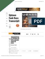 Uptown Funk Bass Transcription - Bass Musician Magazine, The Face of Bass