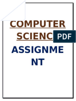 Computer science Assingment class 12