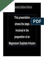 B43. Magnesium Sulphate Powerpoint Presentation