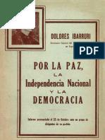 Dolores Ibarruri -por la paz la independencia nacional y la democracia