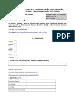 Formulário Unificado CEUA