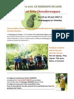 Stage d'été du hérisson de jade 2017