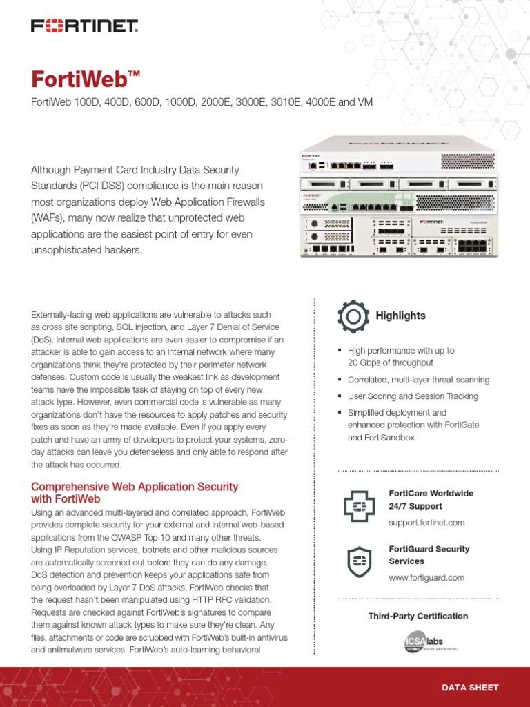 FortiWeb   Proxy Server   Denial Of Service Attack