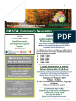 COSTA Newsletter - Jan 2017