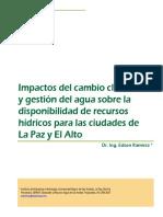 Cambio Climatico y agua La Paz