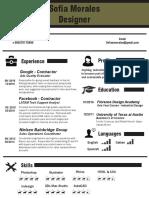 Sofia Morales Infographic CV