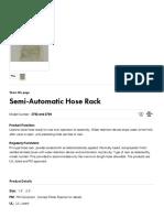 Semi-Automatic Hose Rack - Potter Roemer