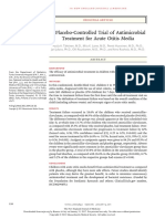 A Placebo-Controlled Trial of Antimicrobial