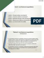 Thème 6 - Les Fusions Et Acquisitions