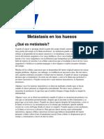 Metastasis en Los Huesos American Cancer Society