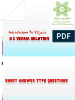 H C Verma Solution_Introduction to Physics