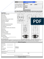 Peace Corps MTG 540 Attach F Assault Medical Exam Form (Head) | Medical Evidence