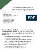 Diferença Entre Compreensão e Interpretação de Texto e Produção de Texto
