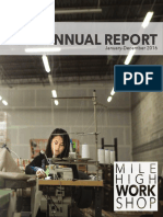 Mile High WorkShop 2016 Annual Report