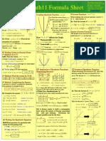 Math 11 Study Sheets
