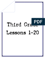 3rd Grade - Lessons 1 - 20
