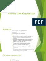 Normas APA Monografía
