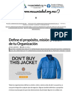 Define El Propósito, Misión y Visión de Tu Organización - MasSociedad