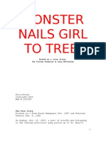 Monster Nails Girl to Tree