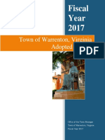 Town of Warrenton fiscal 2017 Adopted Budget