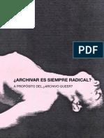 Acta#1_¿Archivar Es Siempre Radical- A Propósito Del ¿Archivo Queer- Del Museo Reina Sofía
