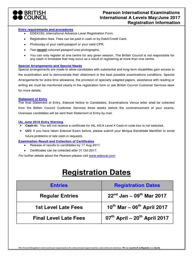 reg _form_edexcel_ial_june_2017 pdf | Identity Document