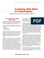 Undermatching Weld Metal Where Advantageous