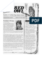 October-November 2003 Barred Owl Newsletters Baton Rouge Audubon Society