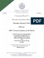 CB 7 - Education Committee - Feb. 9, 2017