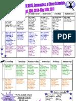Final 2010 All Classes Schedule