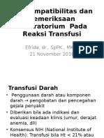 Kp 2.2.6.4 - Cross Match Sebelum Transfusi Darah Dan Pemeriksaan Laboratorium Pada Reaksi Transfusi
