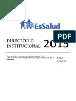 DIRECTORIO Sede Central 2015