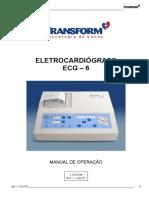 Eletrocardiógrafo Ecg – 6_manual de Operação_1-518-028 Rev. i – Jun07