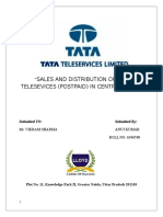 Sales and Distribution of Tata Telesevices (Postpaid) in Central Delh1111111123i