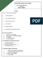Practice Sheet Lesson 10